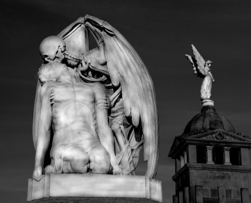 When an Angel Turns its Back - Barcelona, Spain - Photography Artwork