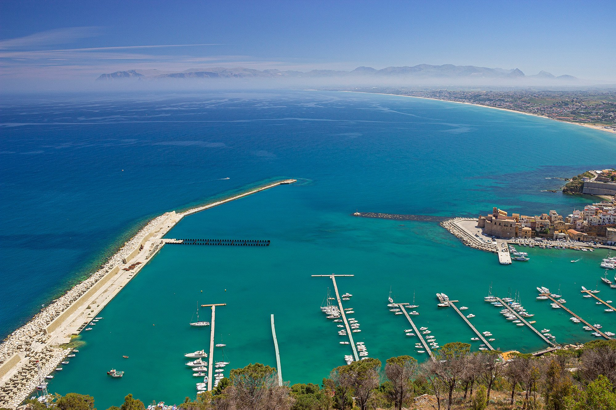 Castellamarre del Golfo in Sicily, Italy