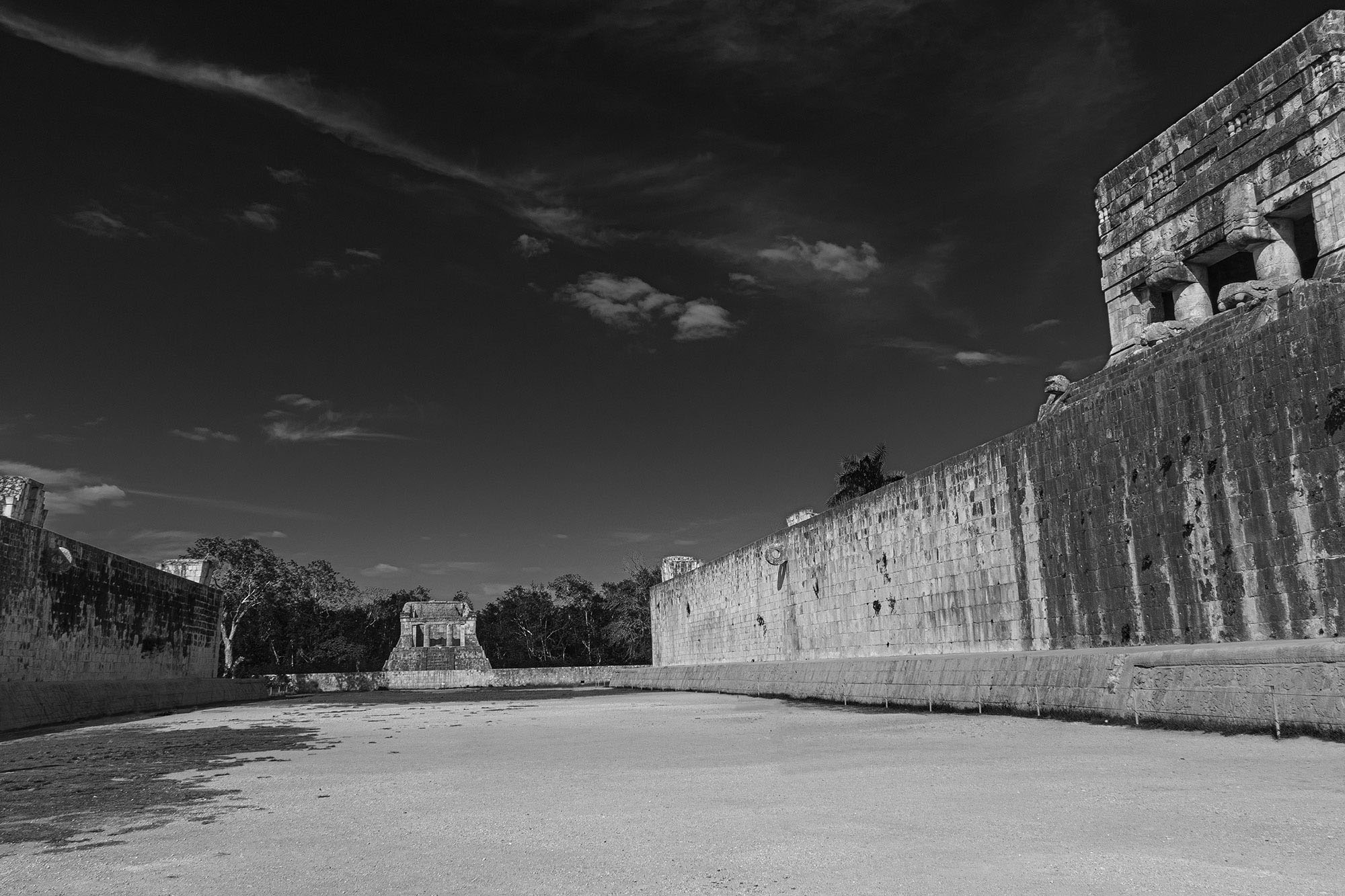 The Great Ball Court in Chichen Itza
