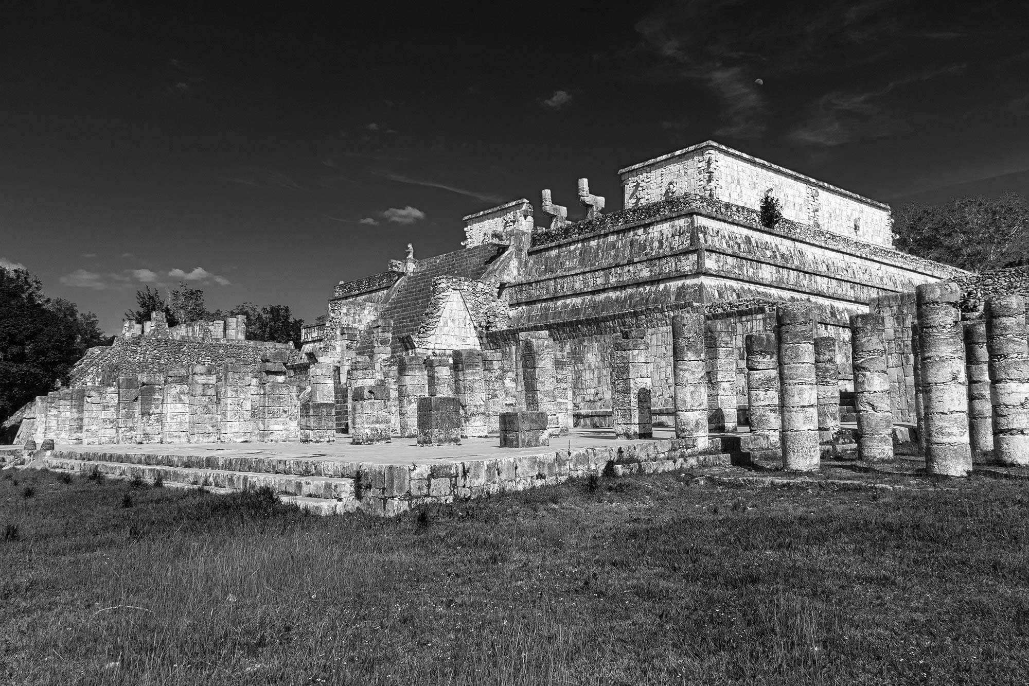 The Temple of the Warriors in Chichen Itza
